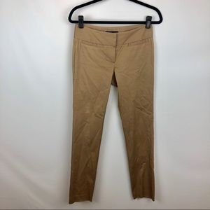 Theory tan skinny trousers
